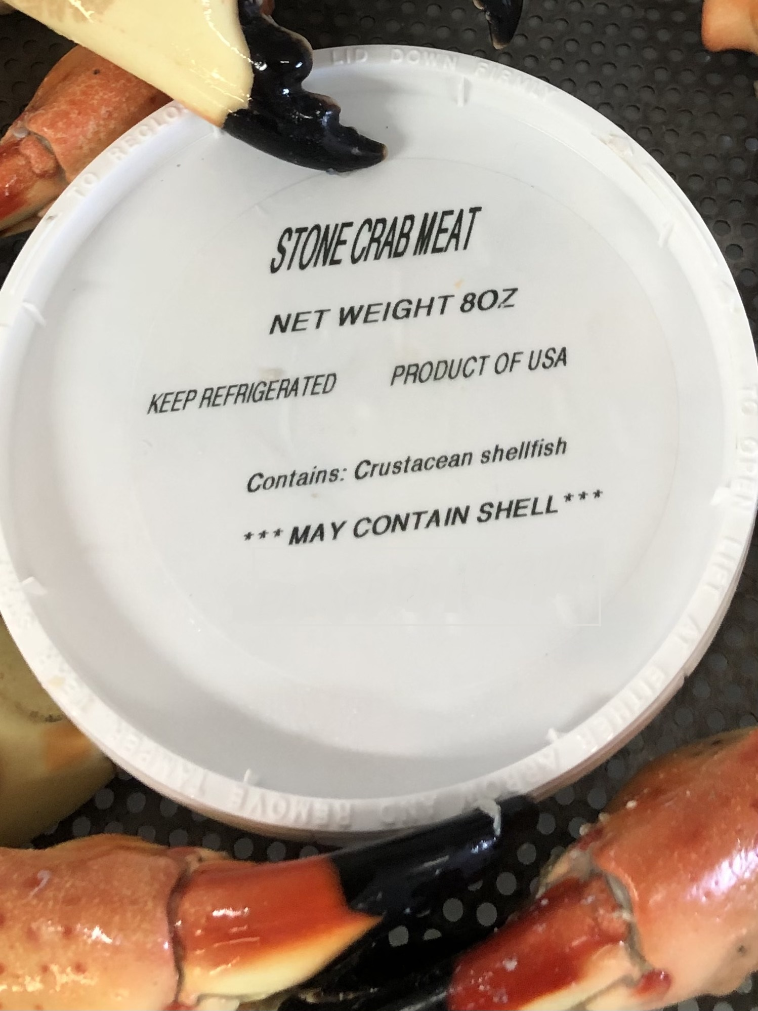 Stone Crab Meat - 8oz Container